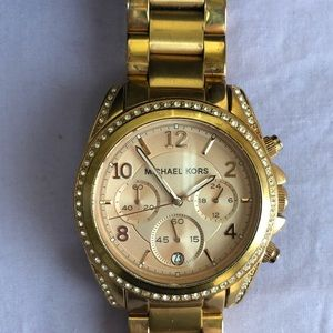 Michael Kors Gold-tone Blair watch Used (rose?)